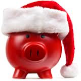 Christmas Red Piggy Bank