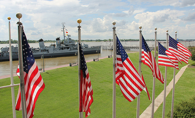 US Flag & War ships
